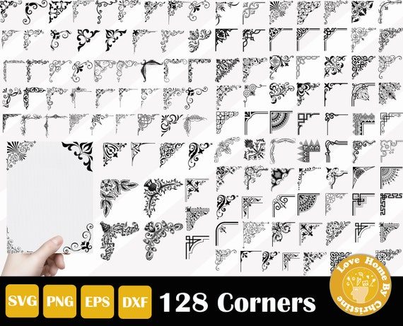 39 Filigree Ornament Decorative Divider SVG Files for Cricut Silhouette Files Instant Download Easy Cut
