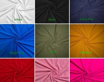 4 Way Stretch Cotton Spandex Solid Colors Bundle