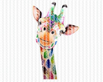 b2319a4a3a3 Instant Download. Digital File. PNG File. Sublimation Design. Digital  Transfer. Transfer. Giraffe. Rainbow Giraffe. Mom Shirt Design.