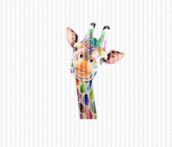 Instant Download. Digital File. PNG File. Sublimation Design. Digital Transfer. Transfer. Giraffe. Rainbow Giraffe. Mom Shirt Design.