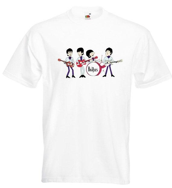 The Beatles Cartoon T Shirt John Lennon Paul Mccartney George Etsy