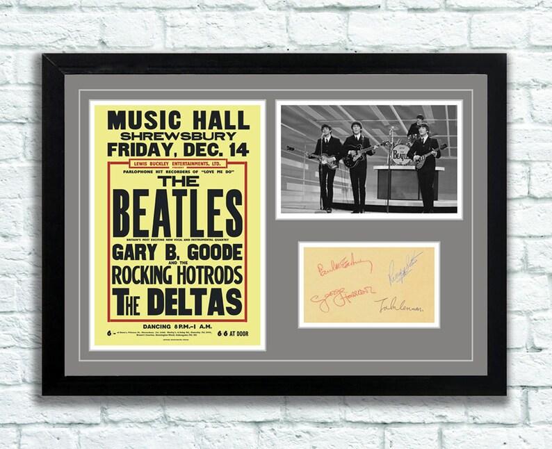 Beatles Memorabilia Poster 'Music Hall' in Shrewsbury image 0