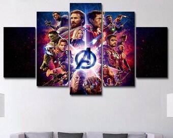 SUPERHERO CHARACTERS Canvas Art Poster Prints Marvel DC Comics  9 SIZES 13-100cm