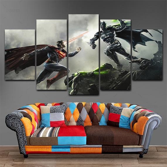 Batman Dark Knight Justice League 5 Piece Gotham City DC Canvas Wall Art Print