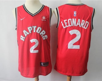3c57d3bee14 Men's Toronto Raptors #2 Kawhi Leonard Red jersey icon edition jersey red  stitched