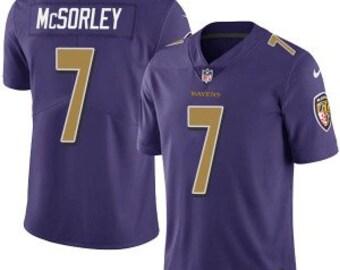 fea16ecda23079 New 2019 Baltimore Ravens #7 Trace McSorley Purple Jersey Vapor Untouchable  Limited Jersey
