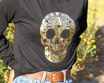 632df88b Gold Sugar Skull - Day of the dead