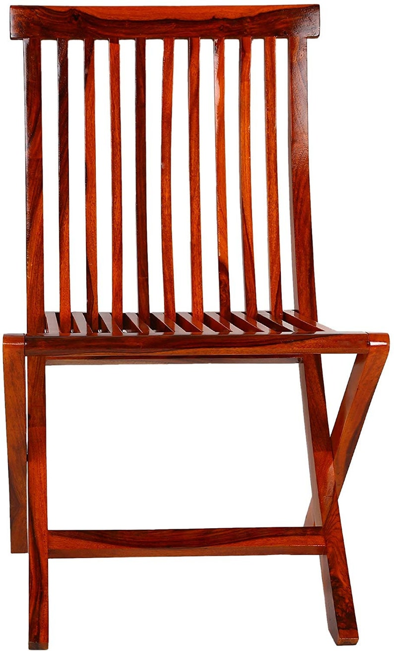 Wooden Brown Finish Relaxing chair Folding Chair Garden chair Living room chair, Standard sized an adult Wooden Chair
