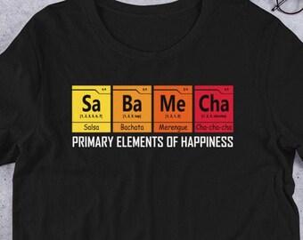 02022dcca Salsa Bachata Merengue Cha Cha Dance happiness element Short-Sleeve Unisex T -Shirt