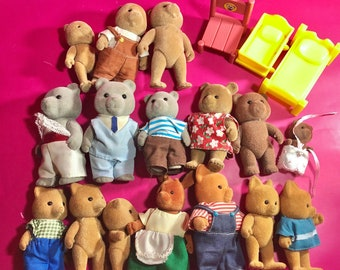 Vintage MAPLE TOWN / Sylvanian Families / Calico Critter - animal figures / 80s, 90s