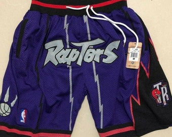 new arrival 833ad 80c60 Toronto Raptors Purple Vintage Basketball Game Shorts NBA Men s NWT  Stitched Pants