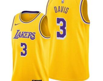 05d244de27c8 Anthony Davis #3 Los Angeles Lakers Gold Men's 2019-20 Icon Jersey