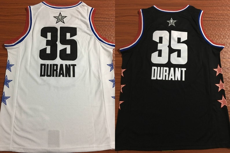 huge inventory a3cfc d38ac Kevin Durant Golden State Warriors 2019 All-Star Jersey