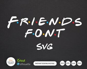 Friends Font Etsy