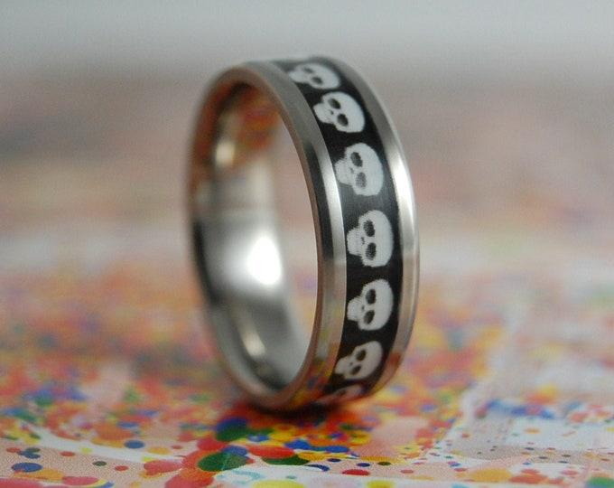 Titanium Ring, Mens Titanium Ring, Womens Titanium Ring, Wedding Ring, Wedding Band, Promise Ring, Friendship Ring, Titanium Inlay Ring