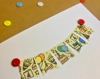 BIRTHDAY Personalised Themed Card || Cerdyn Penblwydd Cymraeg wedi'i bersonoli | Cardiau Mwydro | Custom Calligraphy Text