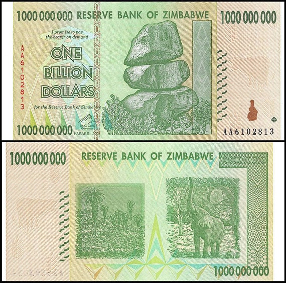 ZIMBABWE 50 100 TRILLION DOLLAR SET AA 2008 SERIES UNC USA FAST SHIPPING