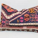 "Pink Kilim Pillow ,16""x24""inch,40x60 cm,Decorative Pillow,Sham Cover,Ethnic Pillow,Bohemian Pillow,Anatolian Area Kilim Pillow"