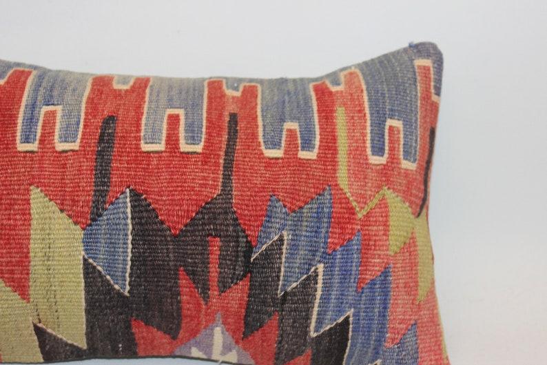 Lumbar Kilim Pillow,12x20inch,30x50 cm,Handmade Pillow,Decorative Pillow,Cushion Cover,Bohemian Pillow,Home Decor Pillow,Pillow Cover