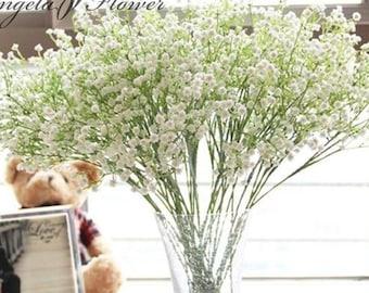 Artificial Baby's Breath Bouquet / Silk Filler Flowers for Wedding Bouquet / Gypsophilia for Bridesmaid Arrangment