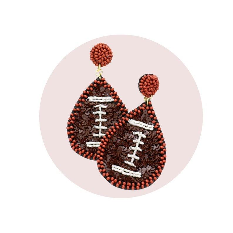 Seed Bead Baseball Softball Soccer Basketball Sports Gift Earrings