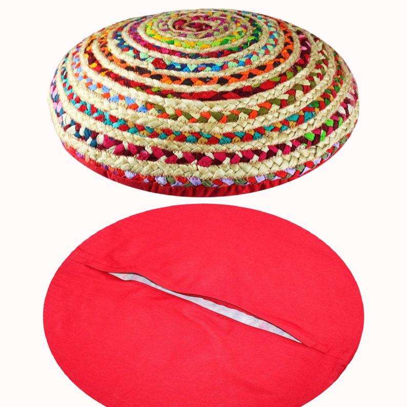 Iaglio & Cotone Rag India Artisan Round Floor Cuscino XaS9tXrL