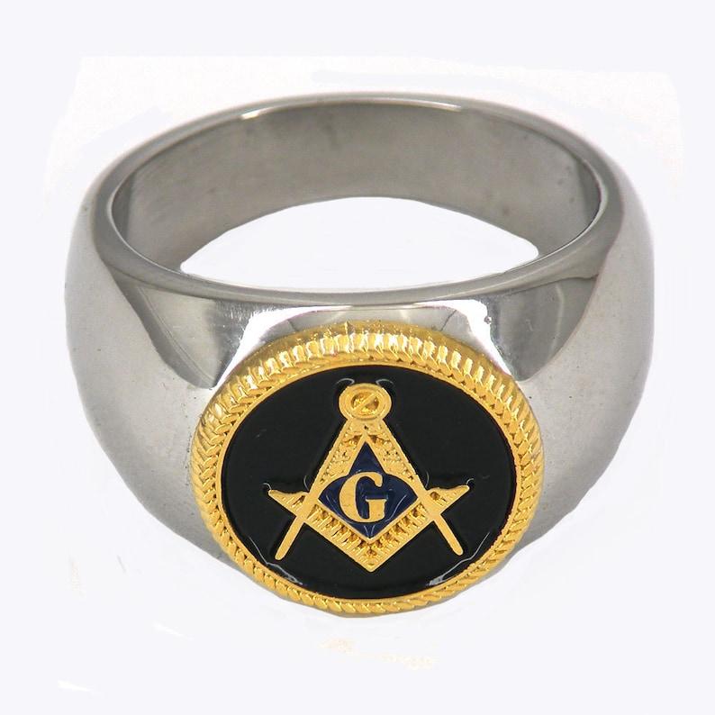 custom made stainless steel freemasonry master mason masonic ring
