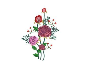 Rose Vine Design Etsy