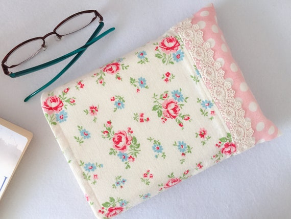 Book Sleeve Cozy Book coverPrinted Fabric Book pouch Large Size 11 \u00d7 8.5 Padded Book Sleeve Gift for Her Book Lovers Gift for Bookworms