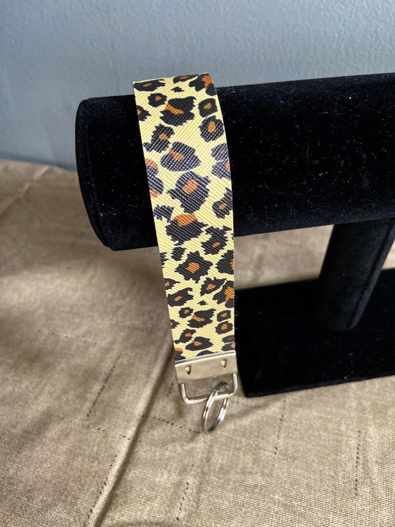 Cheetah print keychain