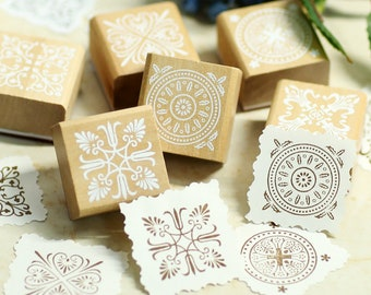 Wood Stamp 9 pcs-EM62409 DIY Korean Rubber Stamp Diary Stamp Dog Stamp Deco Stamp