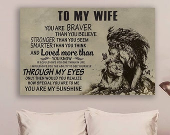 Mickey Minnie Mouse To My Wife You Are Braver Than You Believe Poster No Frame