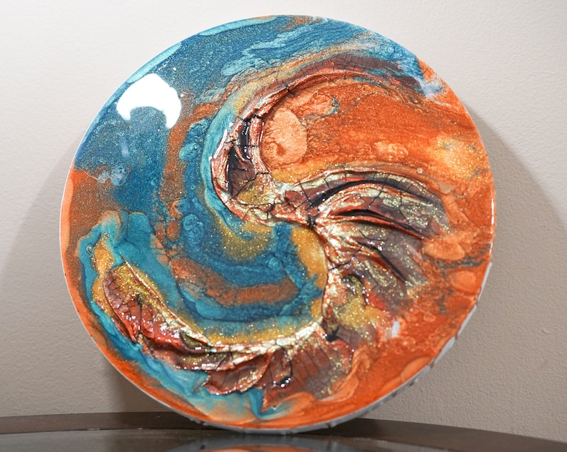 Prophetic Abstract Resin Art My Horn