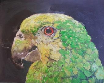 budgies, parrot, bird, pastel, Scandinavian, kid/'s room, nursery Signed Giclee of a Painting by Lori DeBoer Cute Couple Art Print