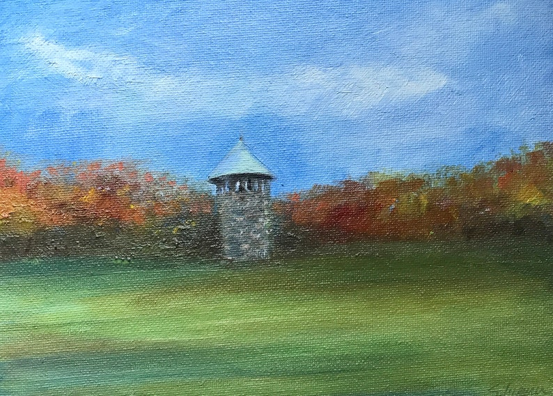 Fall by Stephanie Silverman LIMITED EDITION PRINT-Rockford Tower Seasonal Collection