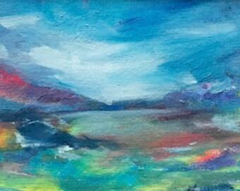 "ORIGINAL PAINTING-""Imagined Landscape"" by Delaware Artist Stephanie Silverman"