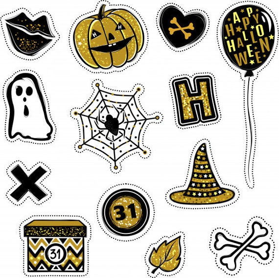 This is a graphic of Halloween Stickers Printable inside rilakkuma