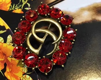 fb6a9981a G Brooch pin gold red / silver / hair accessories