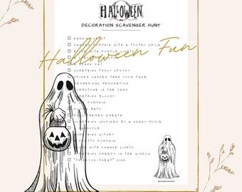 Halloween Scavenger Hunt   Fall Activities   Halloween Decor   Digital Download   Printables