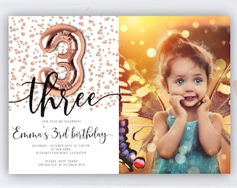 3 year old invite etsy