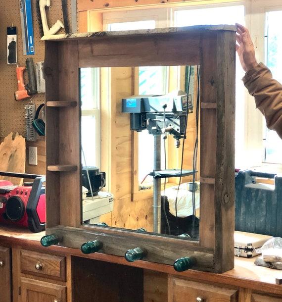 Framed Mirror Entryway Coat Rack, Entryway Mirror With Coat Hooks