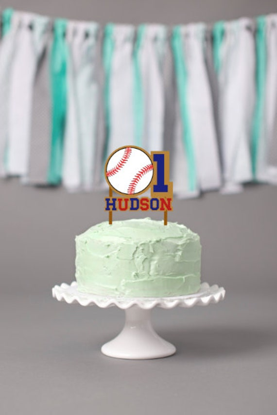 Groovy Birthday Baseball Cake Topper Sports Party Boys Baseball Etsy Funny Birthday Cards Online Bapapcheapnameinfo