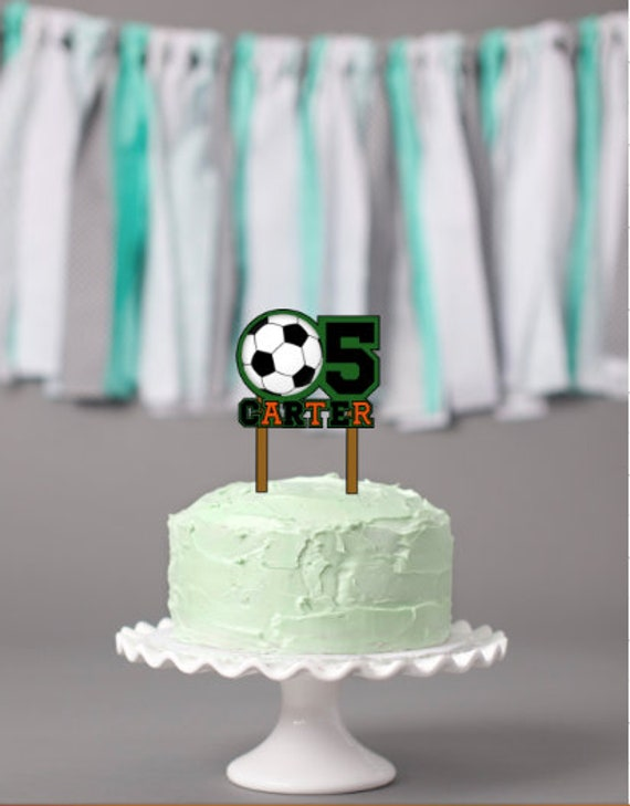 Swell Soccer Birthday Cake Topper Soccer Birthday Party Etsy Personalised Birthday Cards Paralily Jamesorg