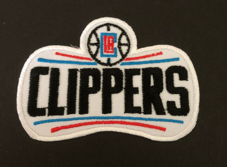 LA Clippers Embroidered Iron-On Mask Patch