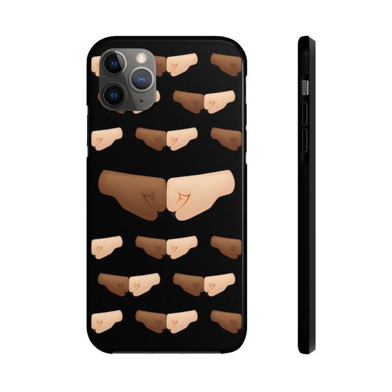No Racism Fist Bump  Black Tough Phone Case image 0