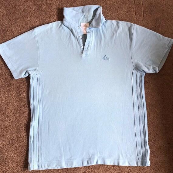 Vintage baby blue Adidas polo shirt