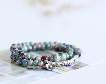 Wrap Bracelet Bohemian Jewelry ceramic bracelet Bracelets for Women Cuff Bracelet Mala Bracelet Healing Bracelet freeshipping