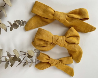 Hand Tied Bow // Fall // Alligator Clip Only