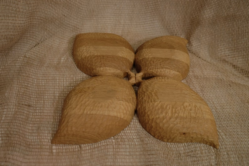 compartmental dish made of Oak Handmade. Bowl of wood Gift wooden dish Fruit vase Gift of wood