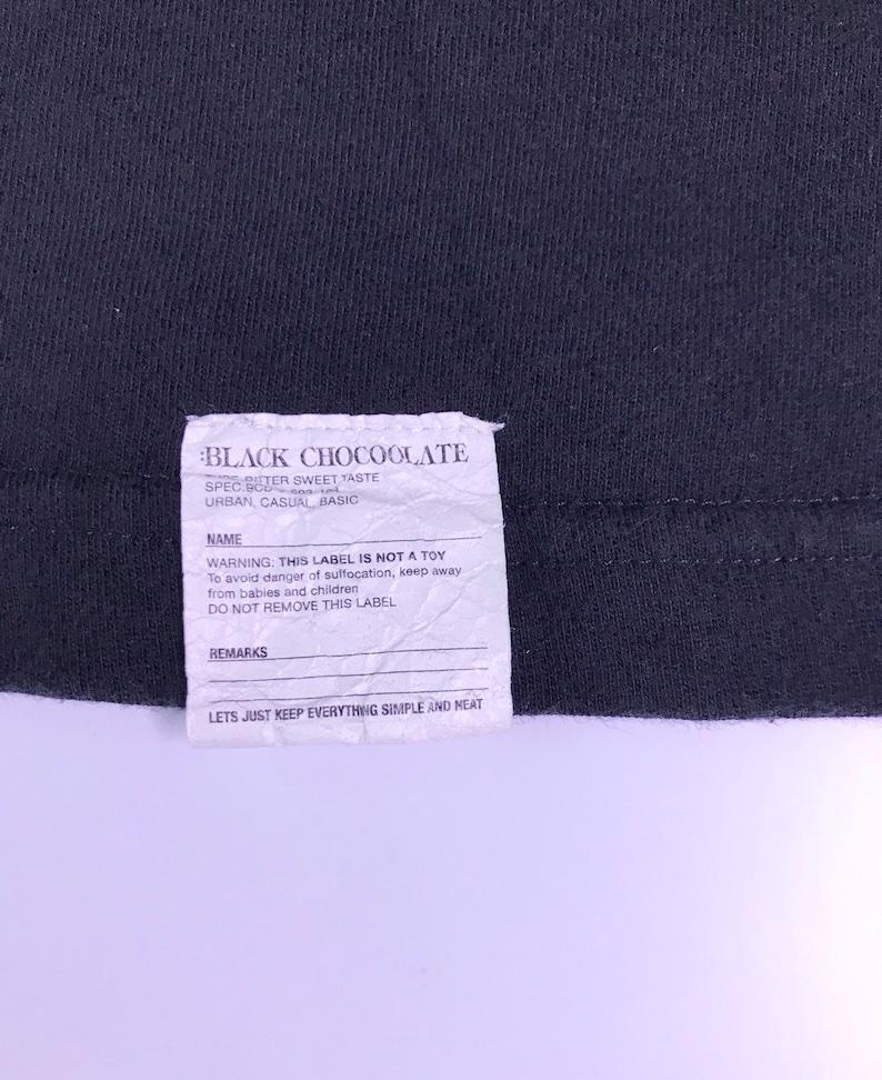 Chocoolate tee shirt Y2K Vintage Champion x Black Chocolate